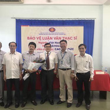 Học viên cao học ngành Việt Nam học bảo vệ thành công luận văn Thạc sĩ