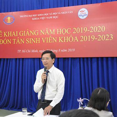 Lễ khai giảng năm học 2019-2020 và Đón tân sinh viên ngành Việt Nam học khóa 2019-2023